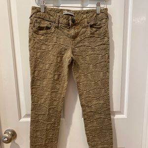 Free People Embroidered Skinny Ankle Jeans Sz 26